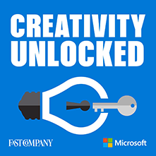 picture of creativity unlocked podcast logo