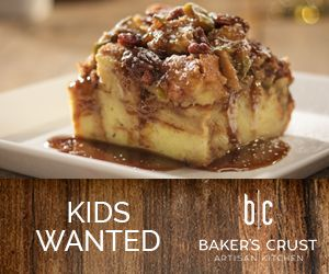 Baker's Crust kids wanted ad 1