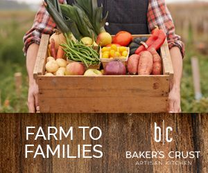Baker's Crust farm to families ad